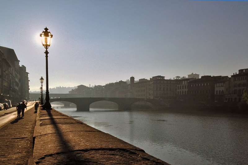 Me, My Heart, and I :: Running along the Arno before taking off